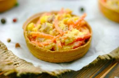Csirke és sárgarépa tartlets