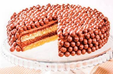 Wafer Cake with chocolate drops