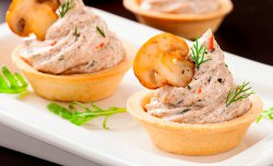 Crusty Tartlet with mushrooms