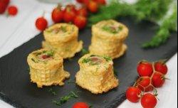 Картопляні пеньочки з сосисками