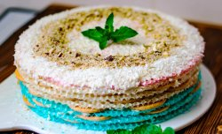 Coconut almond wafer cake