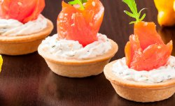 Crusty Tartlet with a fish