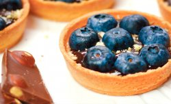 Tartlets with chocolate