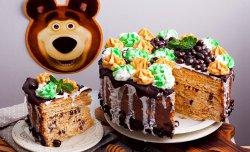 """Вафельный торт """"Медведь"""""""