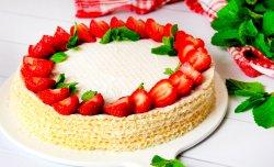 Ricotta waffle cake