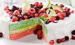 Wafer cake with berry fruit