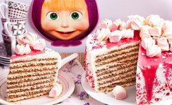 "Wafer cake ""Masha"""