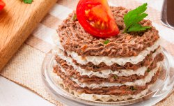 Wafer liver cake snack