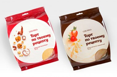 Коржи «КЛАССИКА ЛЕКОРНА» и Коржи с добавлением какао: новая упаковка.